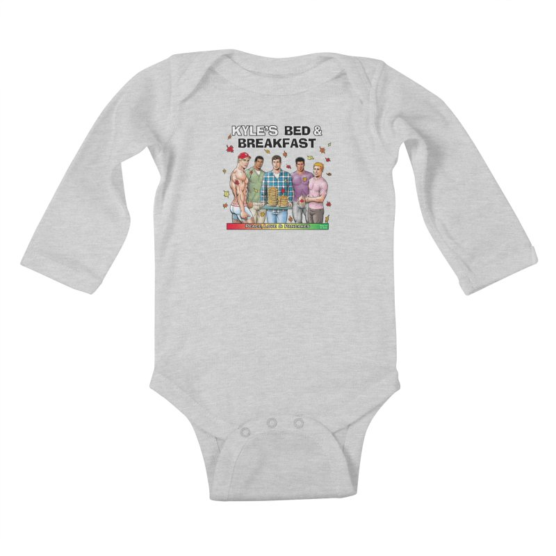 Peace, Love & Pancakes! Kids Baby Longsleeve Bodysuit by Kyle's Bed & Breakfast Fine Clothing & Gifts Shop