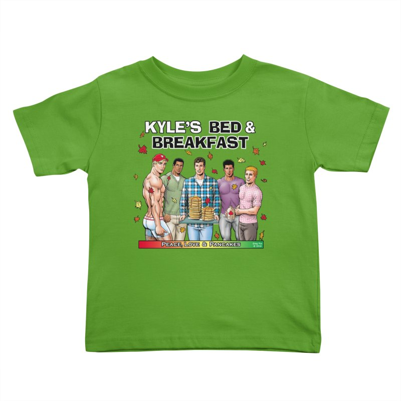 Peace, Love & Pancakes! Kids Toddler T-Shirt by Kyle's Bed & Breakfast Fine Clothing & Gifts Shop