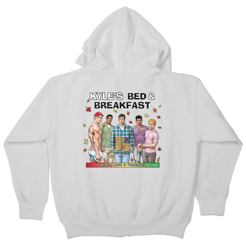 Peace, Love & Pancakes! Kids Zip-Up Hoody by Kyle's Bed & Breakfast Fine Clothing & Gifts Shop
