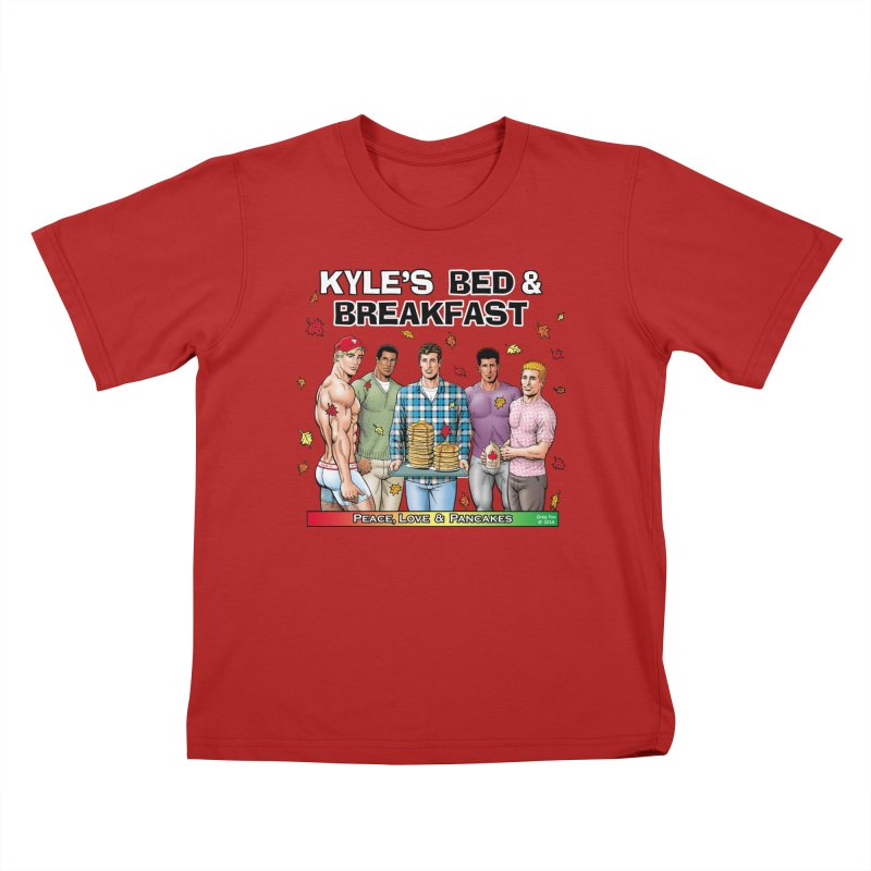 Peace, Love & Pancakes! Kids T-shirt by Kyle's Bed & Breakfast Fine Clothing & Gifts Shop