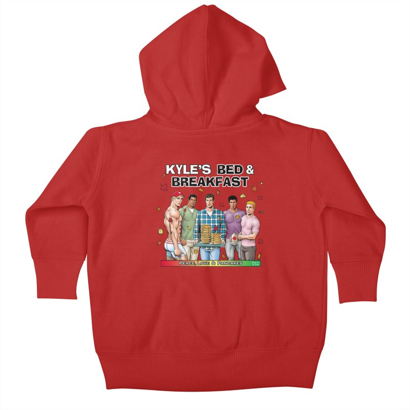 Peace, Love & Pancakes! Kids Baby Zip-Up Hoody by Kyle's Bed & Breakfast Fine Clothing & Gifts Shop