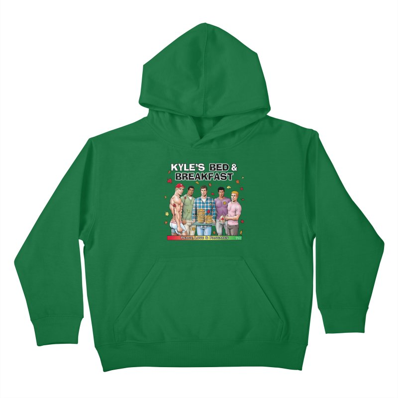 Peace, Love & Pancakes! Kids Pullover Hoody by Kyle's Bed & Breakfast Fine Clothing & Gifts Shop