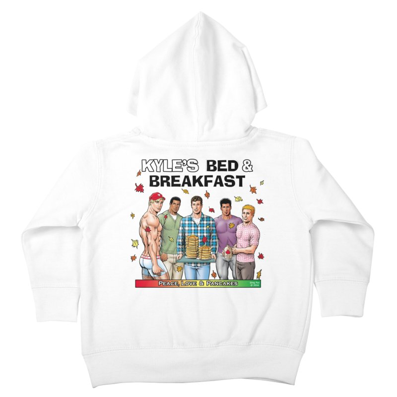 Peace, Love & Pancakes! Kids Toddler Zip-Up Hoody by Kyle's Bed & Breakfast Fine Clothing & Gifts Shop