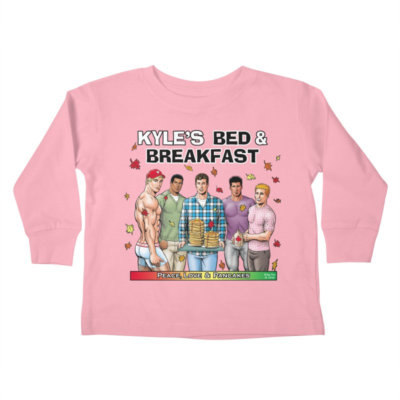 Peace, Love & Pancakes! Kids Toddler Longsleeve T-Shirt by Kyle's Bed & Breakfast Fine Clothing & Gifts Shop