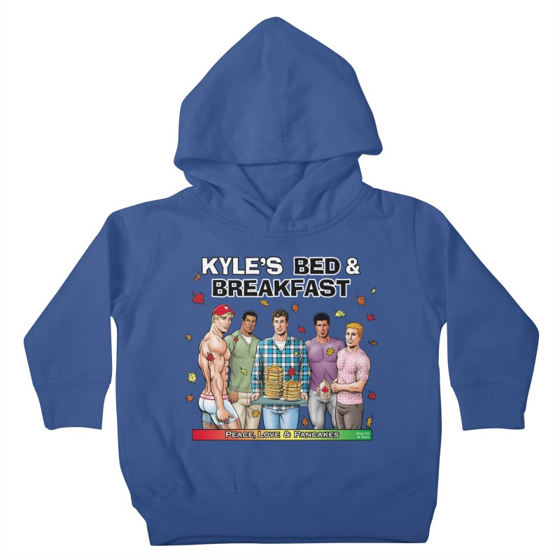 Peace, Love & Pancakes! Kids Toddler Pullover Hoody by Kyle's Bed & Breakfast Fine Clothing & Gifts Shop