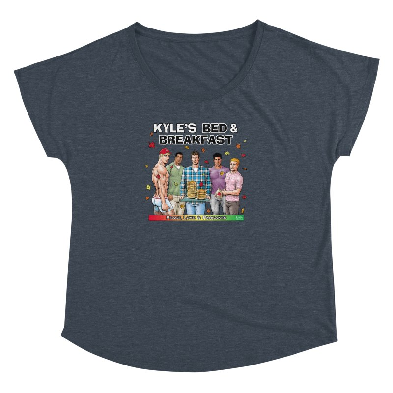 Peace, Love & Pancakes! Women's Dolman by Kyle's Bed & Breakfast Fine Clothing & Gifts Shop