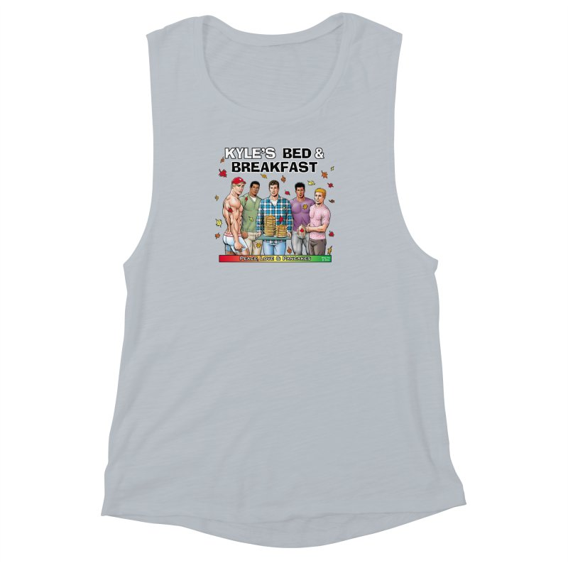 Peace, Love & Pancakes! Women's Muscle Tank by Kyle's Bed & Breakfast Fine Clothing & Gifts Shop