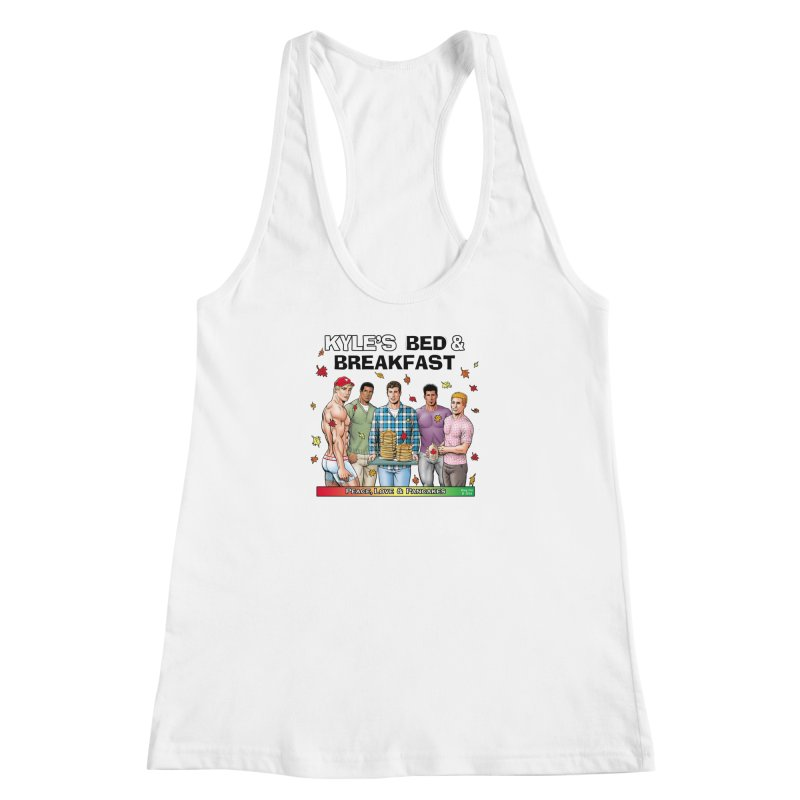 Peace, Love & Pancakes! Women's Racerback Tank by Kyle's Bed & Breakfast Fine Clothing & Gifts Shop