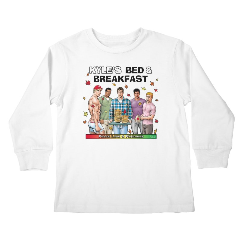 Peace, Love & Pancakes! Kids Longsleeve T-Shirt by Kyle's Bed & Breakfast Fine Clothing & Gifts Shop