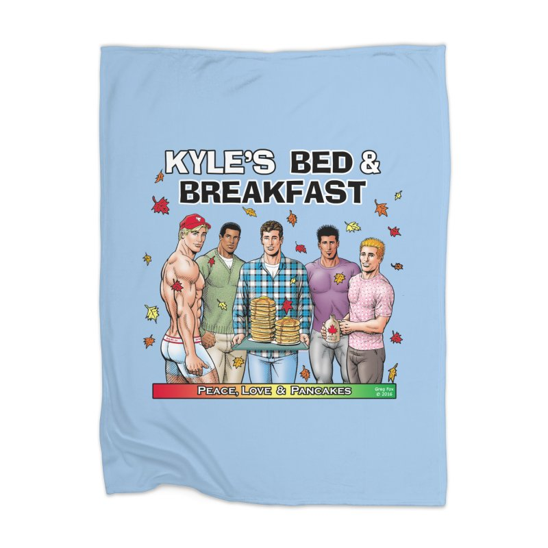 Peace, Love & Pancakes! Home Blanket by Kyle's Bed & Breakfast Fine Clothing & Gifts Shop