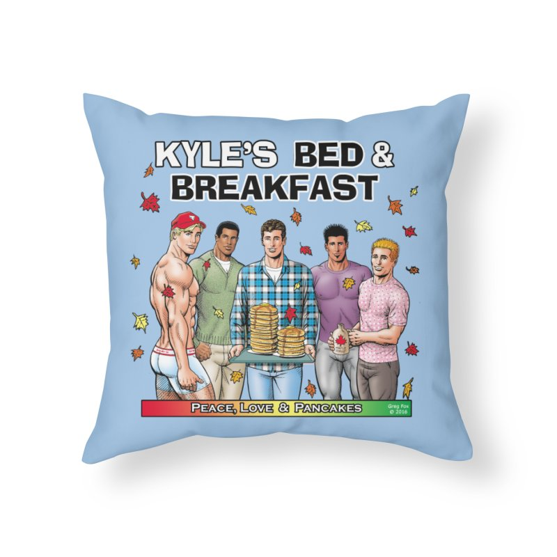 Peace, Love & Pancakes! Home Throw Pillow by Kyle's Bed & Breakfast Fine Clothing & Gifts Shop