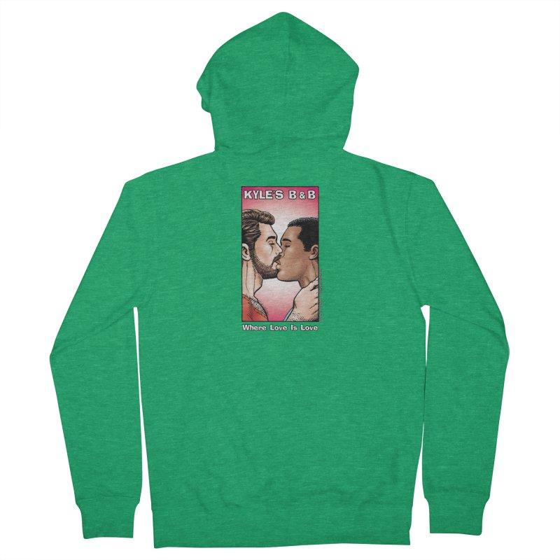 Drew & Lance - Love is Love Men's Zip-Up Hoody by Kyle's Bed & Breakfast Fine Clothing & Gifts Shop