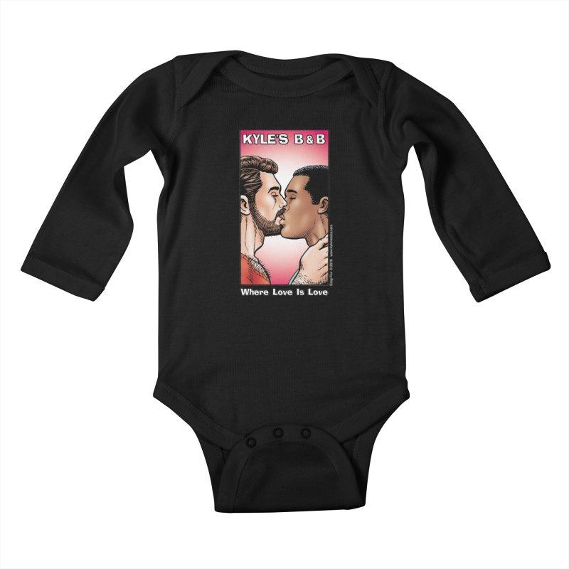 Drew & Lance - Love is Love Kids Baby Longsleeve Bodysuit by Kyle's Bed & Breakfast Fine Clothing & Gifts Shop