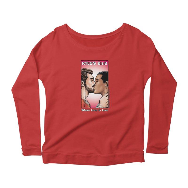 Drew & Lance - Love is Love Women's Longsleeve Scoopneck  by Kyle's Bed & Breakfast Fine Clothing & Gifts Shop