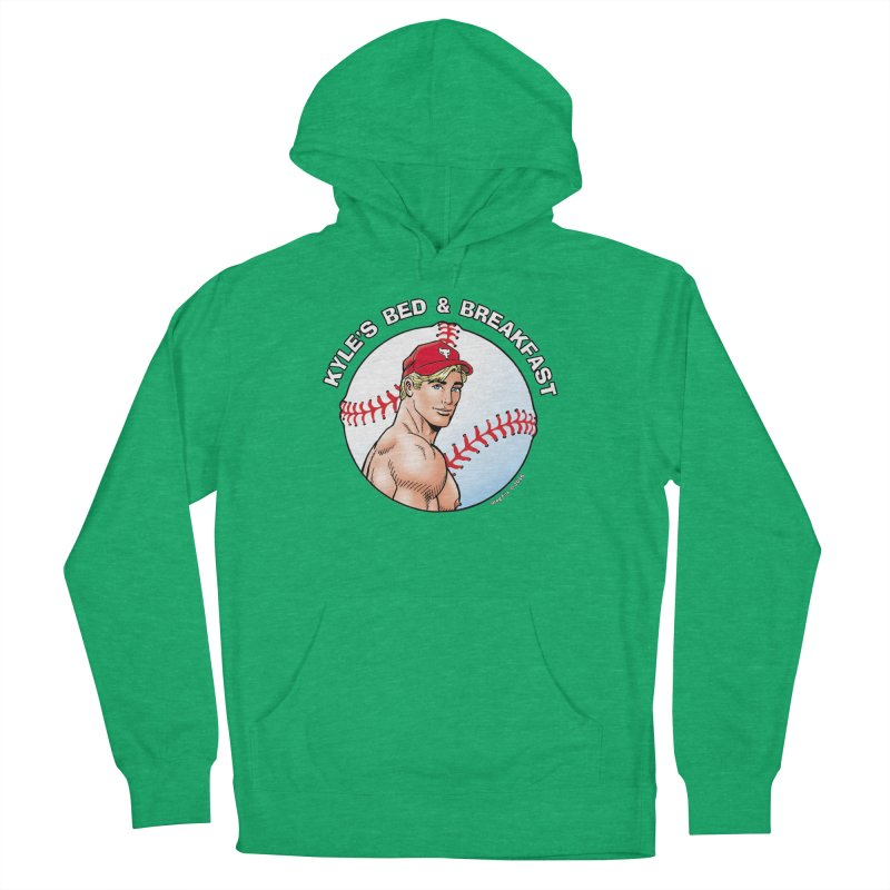 Brad - Baseball Men's Pullover Hoody by Kyle's Bed & Breakfast Fine Clothing & Gifts Shop