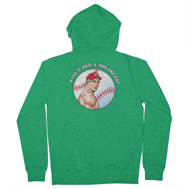 Brad - Baseball Women's Zip-Up Hoody by Kyle's Bed & Breakfast Fine Clothing & Gifts Shop