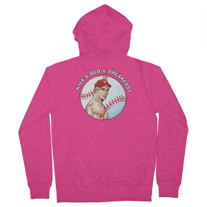 Brad - Baseball Women's French Terry Zip-Up Hoody by Kyle's Bed & Breakfast Fine Clothing & Gifts Shop