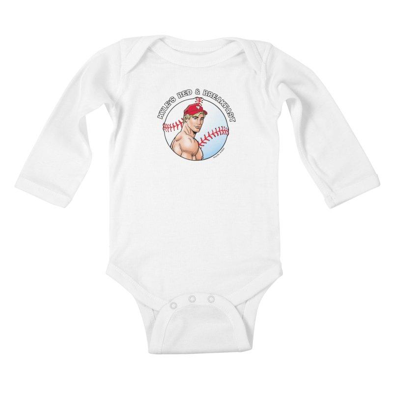 Brad - Baseball Kids Baby Longsleeve Bodysuit by Kyle's Bed & Breakfast Fine Clothing & Gifts Shop