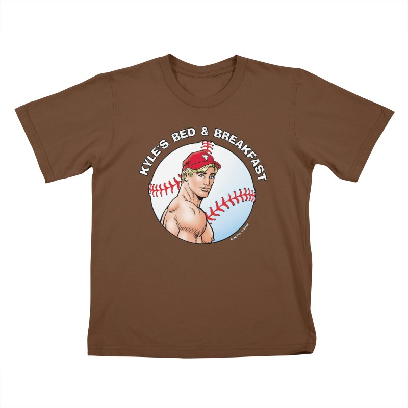 Brad - Baseball Kids T-shirt by Kyle's Bed & Breakfast Fine Clothing & Gifts Shop