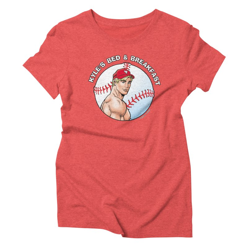 Brad - Baseball Women's Triblend T-shirt by Kyle's Bed & Breakfast Fine Clothing & Gifts Shop
