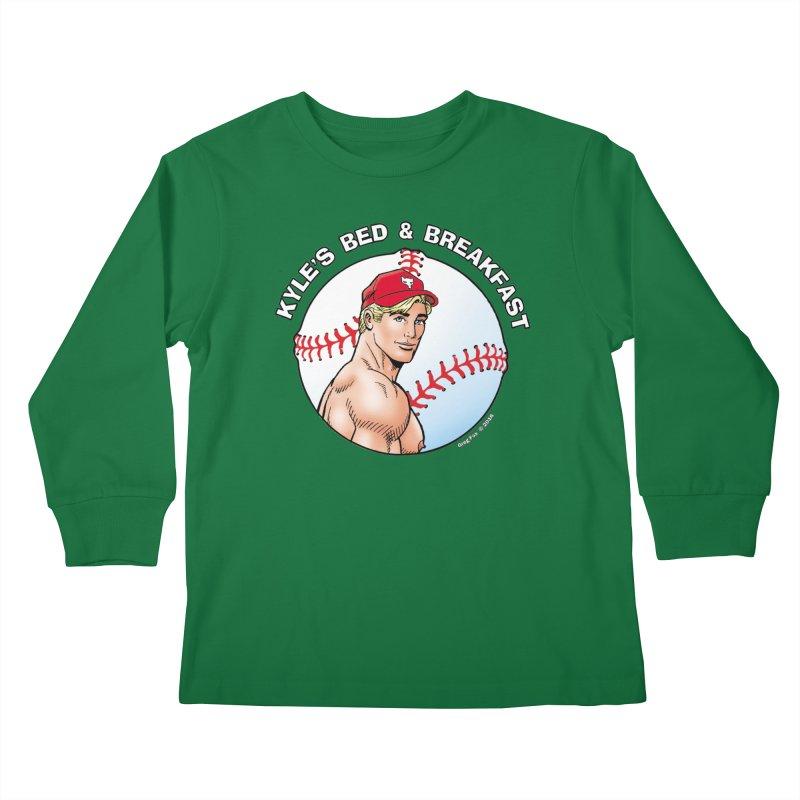 Brad - Baseball Kids Longsleeve T-Shirt by Kyle's Bed & Breakfast Fine Clothing & Gifts Shop