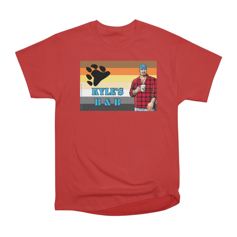Jake - Bear Flag Men's Heavyweight T-Shirt by Kyle's Bed & Breakfast Fine Clothing & Gifts Shop