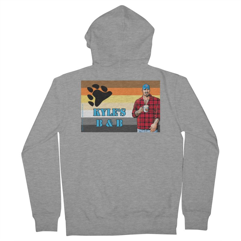 Jake - Bear Flag Men's Zip-Up Hoody by Kyle's Bed & Breakfast Fine Clothing & Gifts Shop