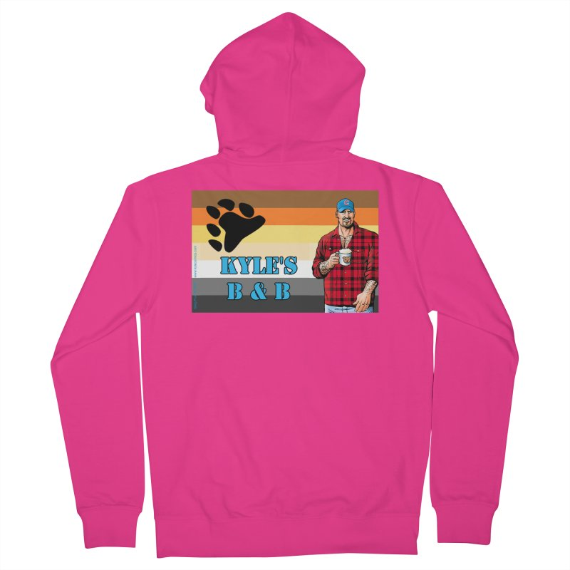 Jake - Bear Flag Men's French Terry Zip-Up Hoody by Kyle's Bed & Breakfast Fine Clothing & Gifts Shop
