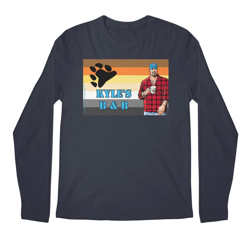 Jake - Bear Flag Men's Longsleeve T-Shirt by Kyle's Bed & Breakfast Fine Clothing & Gifts Shop