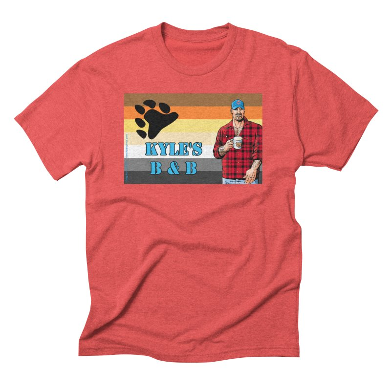Jake - Bear Flag Men's Triblend T-shirt by Kyle's Bed & Breakfast Fine Clothing & Gifts Shop