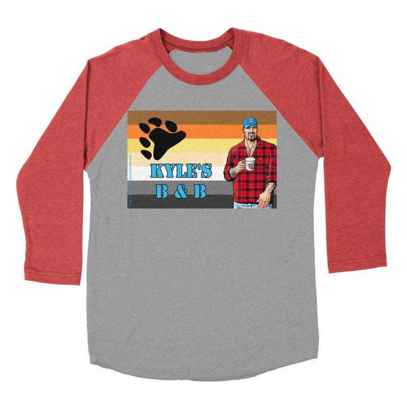 Jake - Bear Flag Women's Baseball Triblend T-Shirt by Kyle's Bed & Breakfast Fine Clothing & Gifts Shop