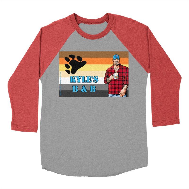 Jake - Bear Flag Men's Baseball Triblend T-Shirt by Kyle's Bed & Breakfast Fine Clothing & Gifts Shop