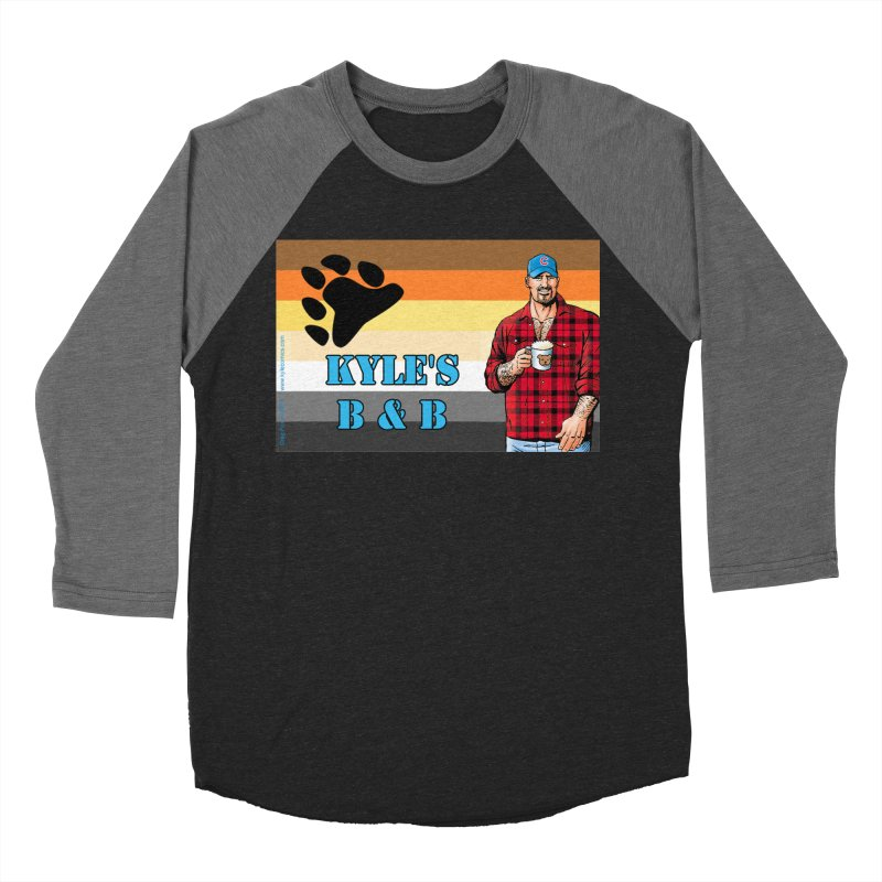 Jake - Bear Flag Men's Baseball Triblend T-Shirt by Kyle's Bed & Breakfast Fine Clothing & Gifts Shop