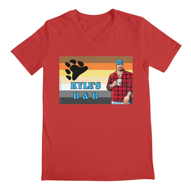 Jake - Bear Flag Men's V-Neck by Kyle's Bed & Breakfast Fine Clothing & Gifts Shop