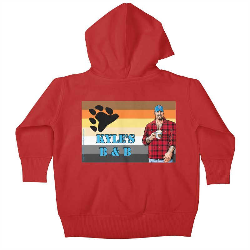 Jake - Bear Flag Kids Baby Zip-Up Hoody by Kyle's Bed & Breakfast Fine Clothing & Gifts Shop