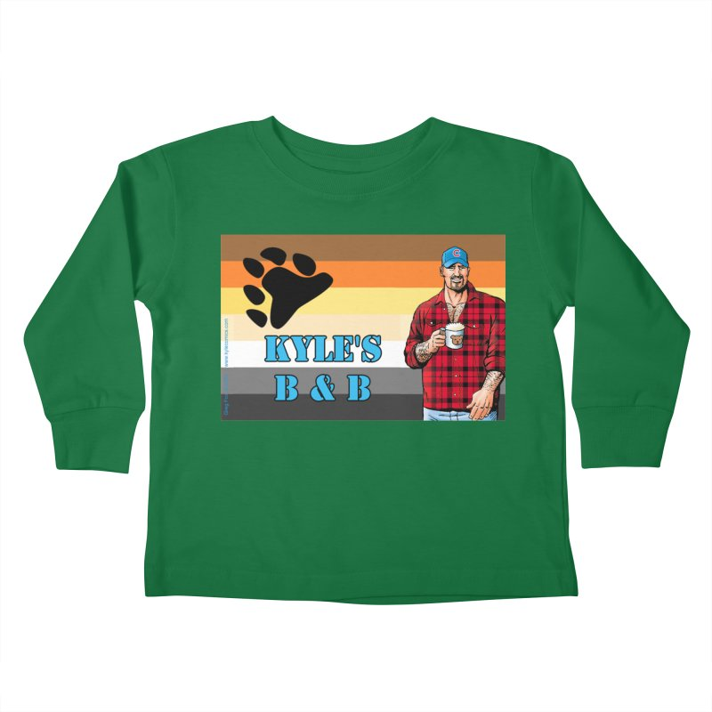 Jake - Bear Flag Kids Toddler Longsleeve T-Shirt by Kyle's Bed & Breakfast Fine Clothing & Gifts Shop