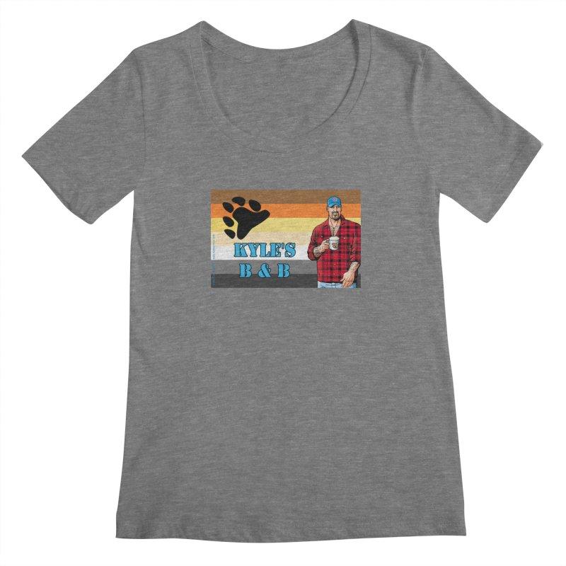 Jake - Bear Flag Women's Scoopneck by Kyle's Bed & Breakfast Fine Clothing & Gifts Shop