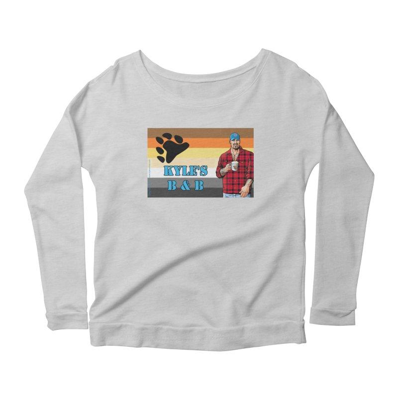 Jake - Bear Flag Women's Scoop Neck Longsleeve T-Shirt by Kyle's Bed & Breakfast Fine Clothing & Gifts Shop