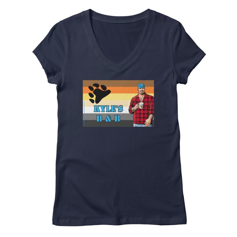 Jake - Bear Flag Women's Regular V-Neck by Kyle's Bed & Breakfast Fine Clothing & Gifts Shop
