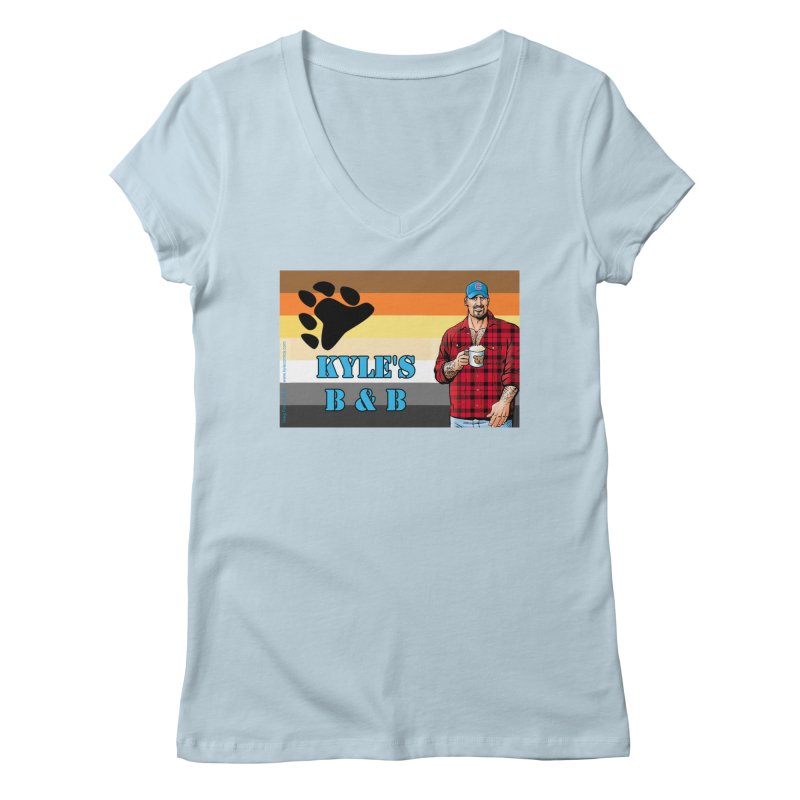 Jake - Bear Flag Women's V-Neck by Kyle's Bed & Breakfast Fine Clothing & Gifts Shop