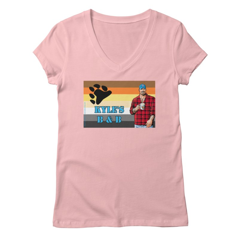 Jake - Bear Flag Women's Regular V-Neck by Kyle's Bed & Breakfast Fine Clothing & Gifts Shop