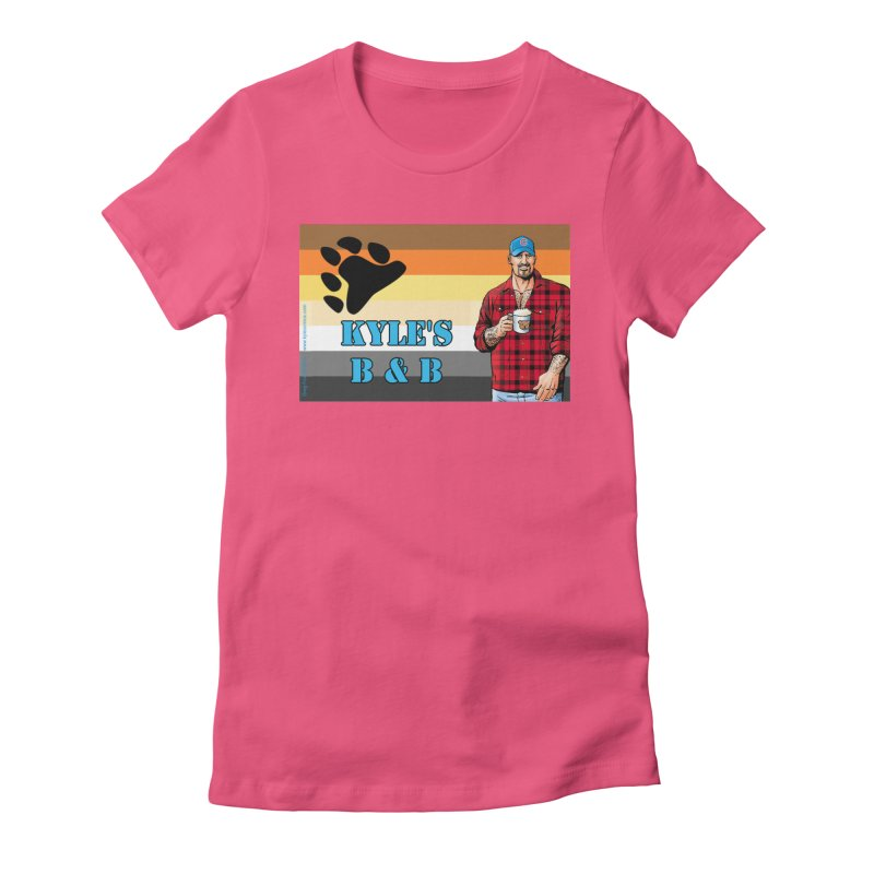 Jake - Bear Flag Women's Fitted T-Shirt by Kyle's Bed & Breakfast Fine Clothing & Gifts Shop