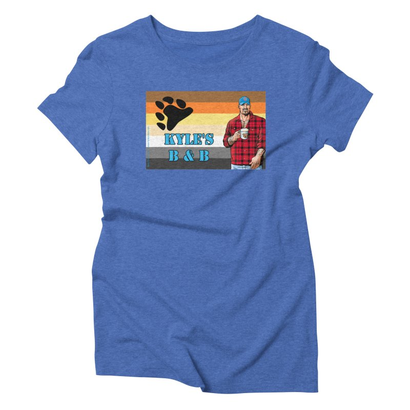 Jake - Bear Flag Women's Triblend T-Shirt by Kyle's Bed & Breakfast Fine Clothing & Gifts Shop