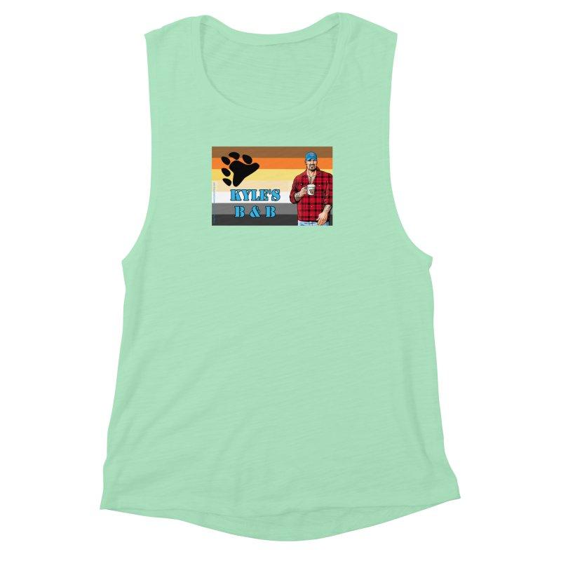 Jake - Bear Flag Women's Muscle Tank by Kyle's Bed & Breakfast Fine Clothing & Gifts Shop