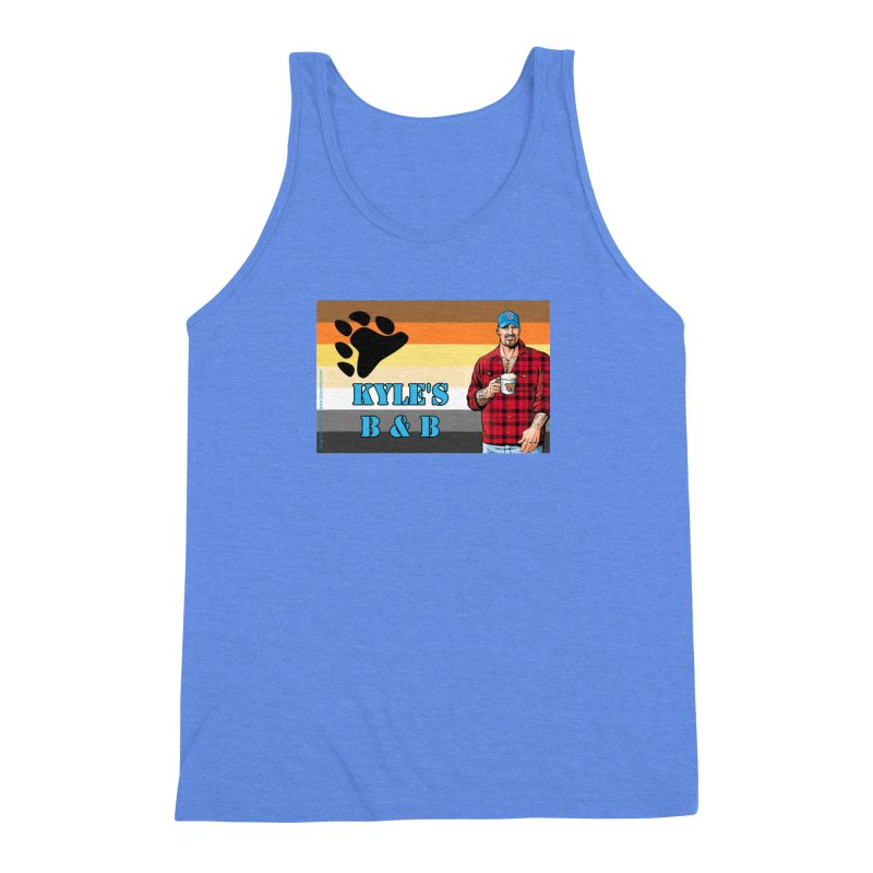 Jake - Bear Flag Men's Triblend Tank by Kyle's Bed & Breakfast Fine Clothing & Gifts Shop