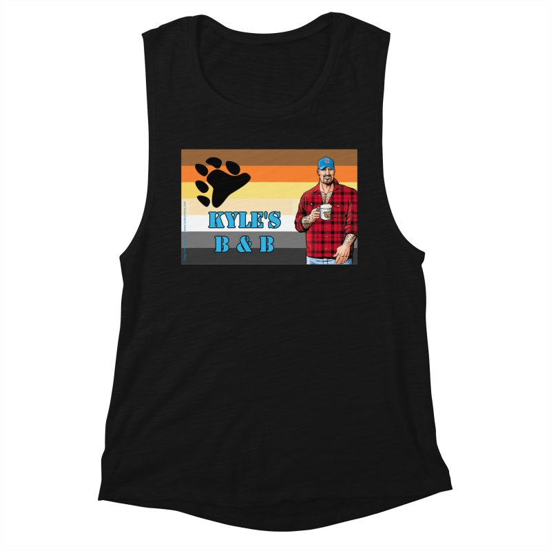 Jake - Bear Flag Women's Muscle Tank by Kyle's Bed & Breakfast Fine Clothing & Gifts Shop
