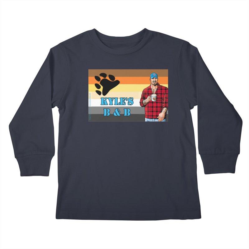 Jake - Bear Flag Kids Longsleeve T-Shirt by Kyle's Bed & Breakfast Fine Clothing & Gifts Shop