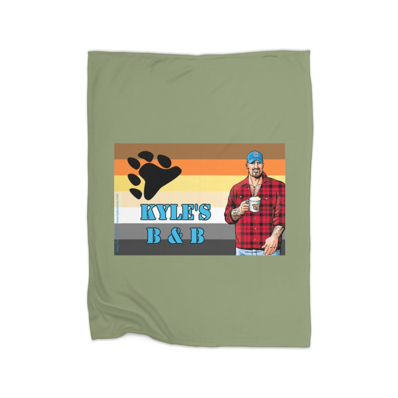Jake - Bear Flag Home Fleece Blanket Blanket by Kyle's Bed & Breakfast Fine Clothing & Gifts Shop