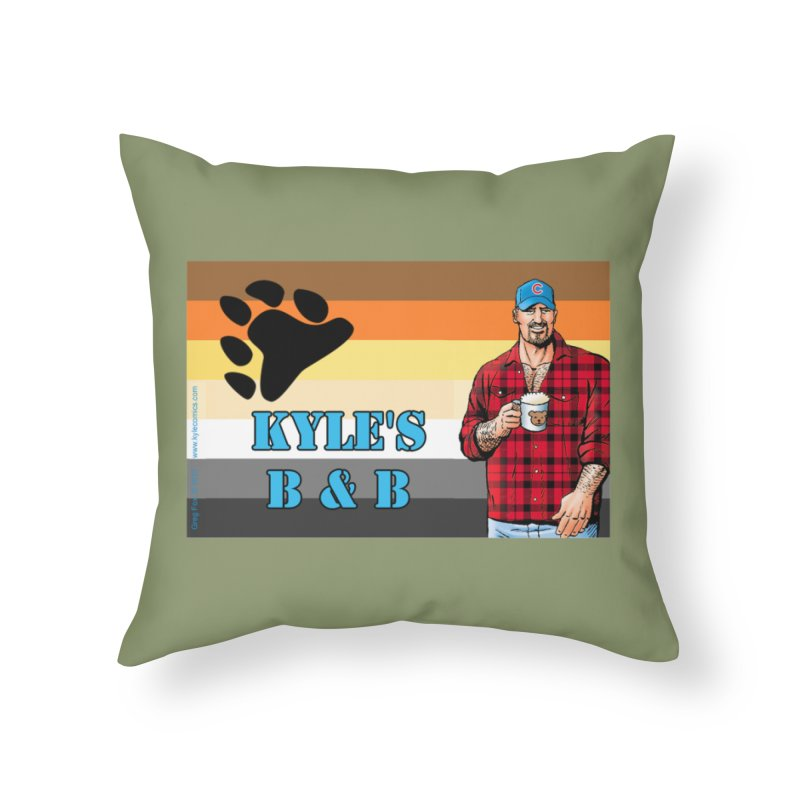 Jake - Bear Flag Home Throw Pillow by Kyle's Bed & Breakfast Fine Clothing & Gifts Shop