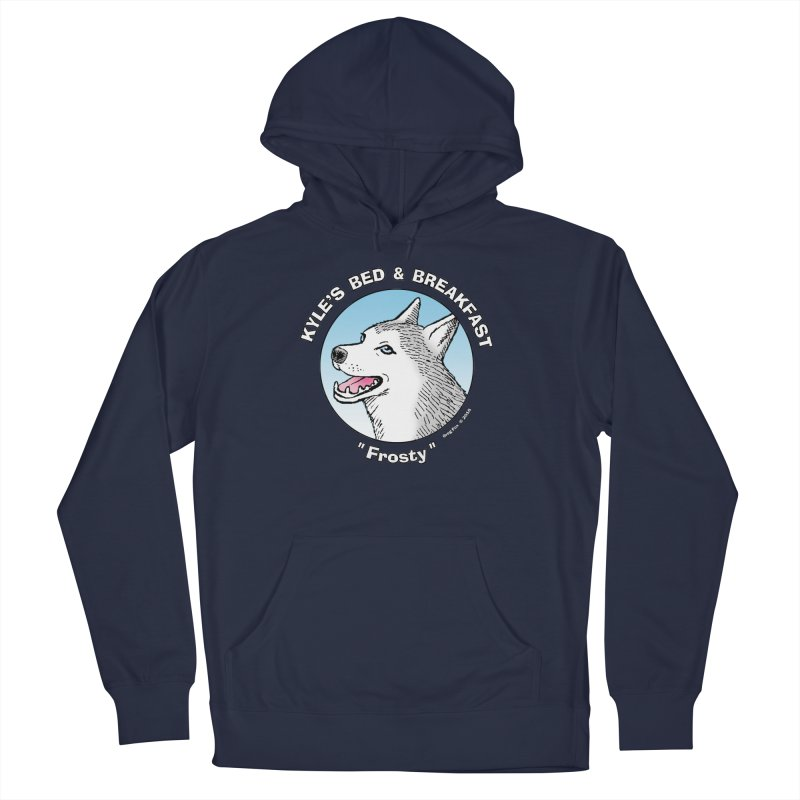 Frosty Women's French Terry Pullover Hoody by Kyle's Bed & Breakfast Fine Clothing & Gifts Shop